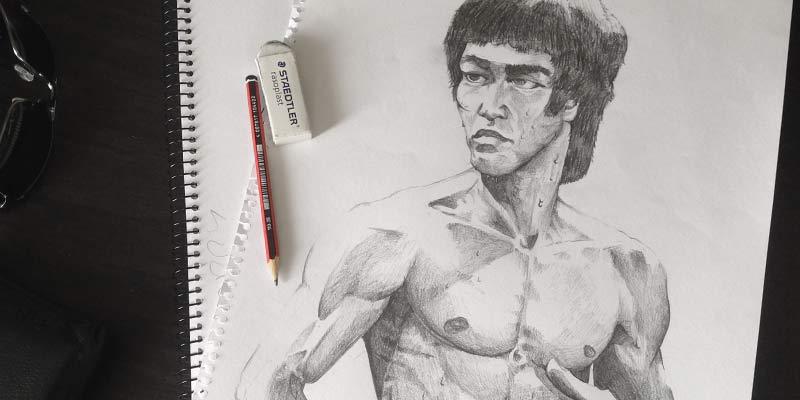Bruce Lee Portrait (Sketch)