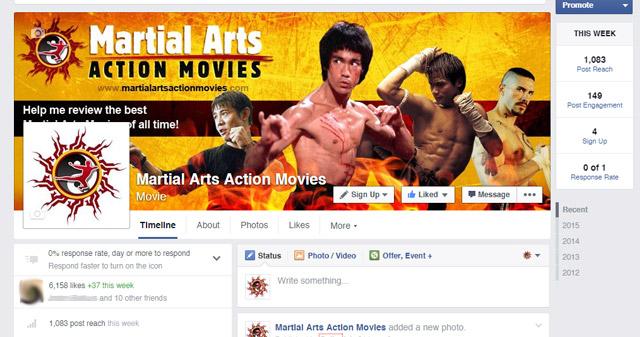 Martial Arts Action Movies on Facebook
