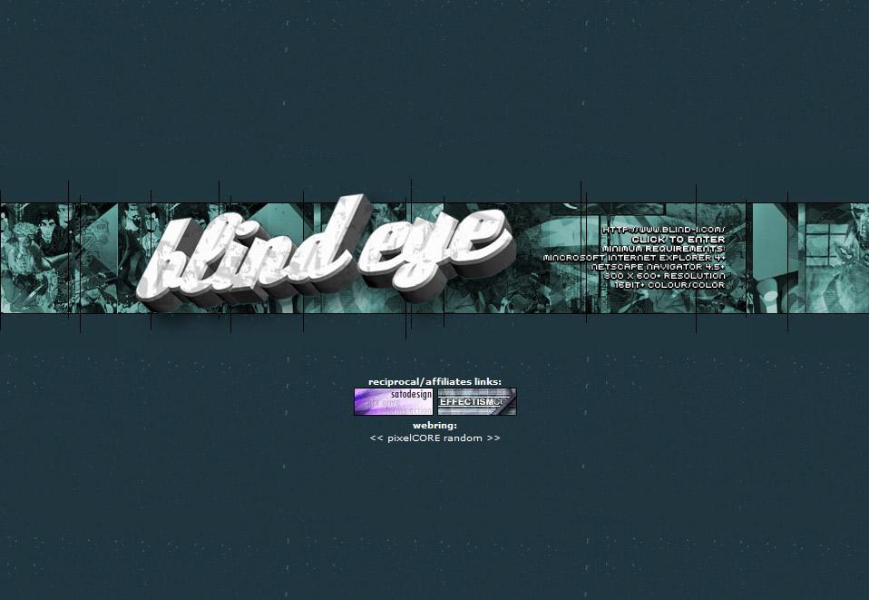 Blind Eye Version 4 Splash Page