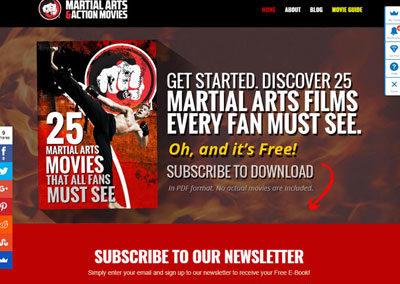 'Martial Arts Action Movies' Website & Design Showcase
