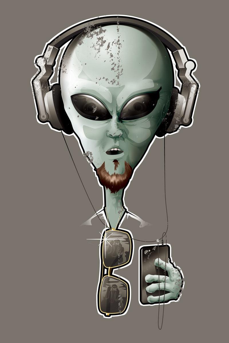 Selfie Alien Digital Art