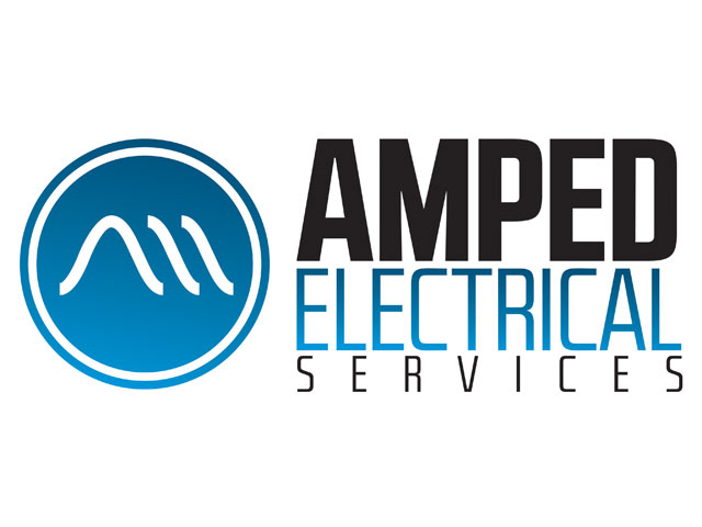 Amped Electrical Services Logo and Website