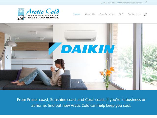 Arctic Cold Web Design