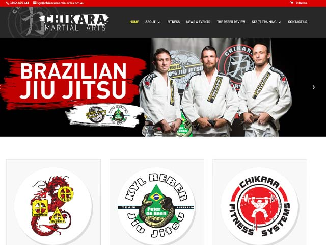 Chikara Martial Arts Website Design