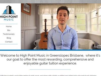 High Point Music Website Showcase