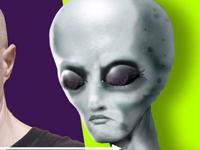 Turning A Man Into An Alien In Photoshop