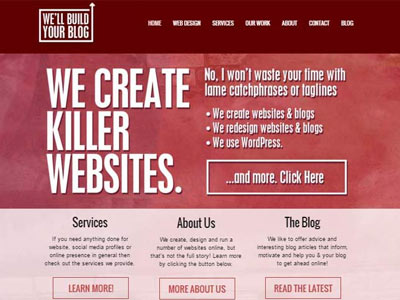 'We'll Build Your Blog' Website Showcase