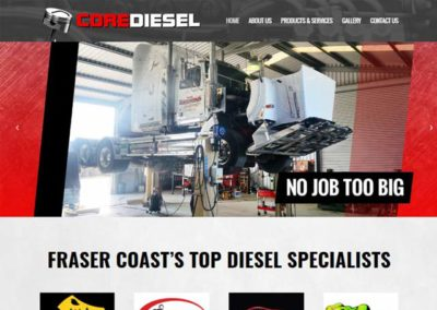 Core Diesel Website Design