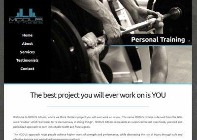 Modus Fitness Website Design