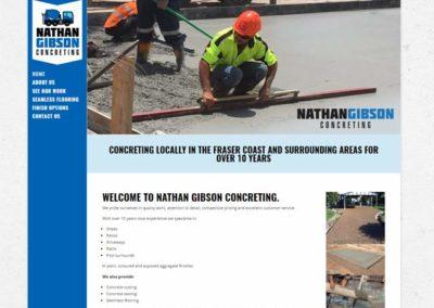 Nathan Gibson Concreting Web Design