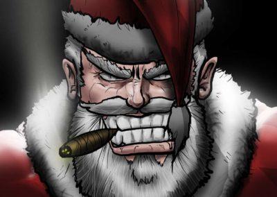 Tough Santa