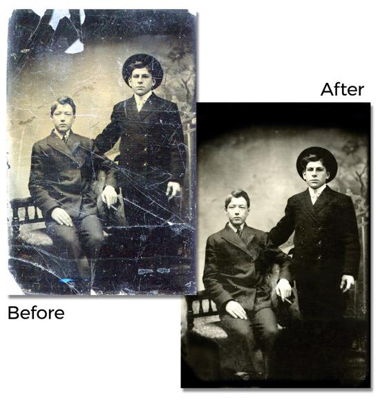 Photo Restoration Sample